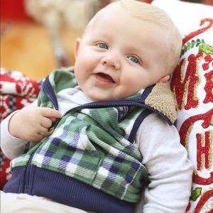 6 month Carter's Plaid Vest - SO SOFT!